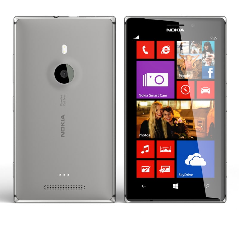 nokia lumia 925 grey 3d max