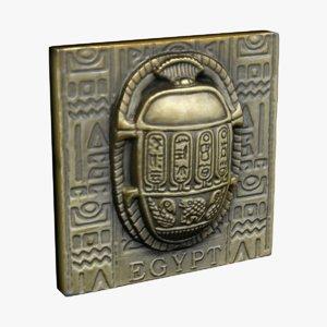 egypt magnet souvenir 3d model