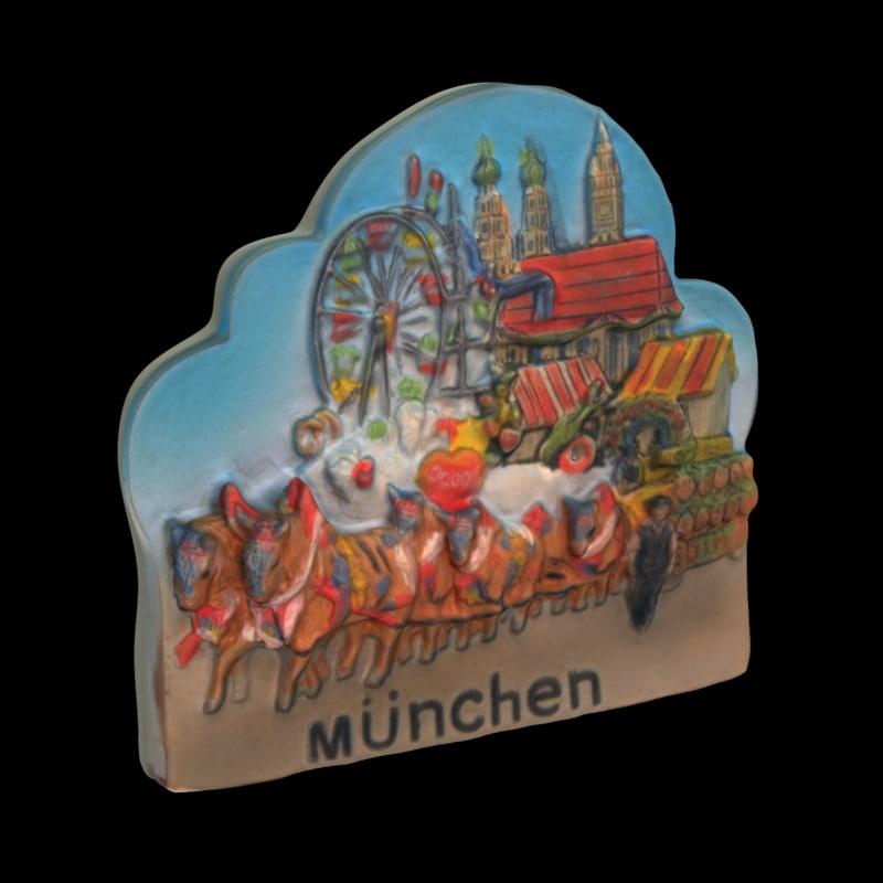munich germany magnet souvenir 3d max