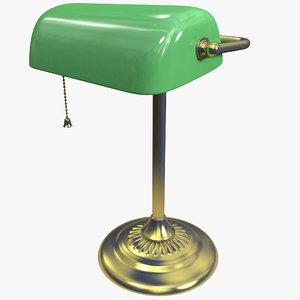 c4d bankers lamp