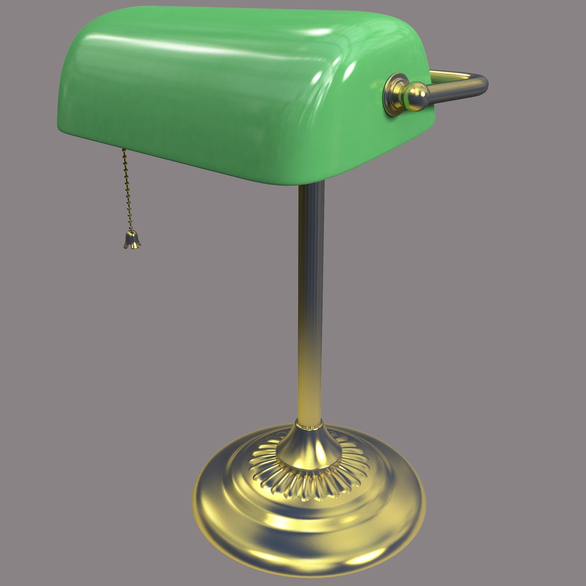 c4d bankers lamp. Black Bedroom Furniture Sets. Home Design Ideas