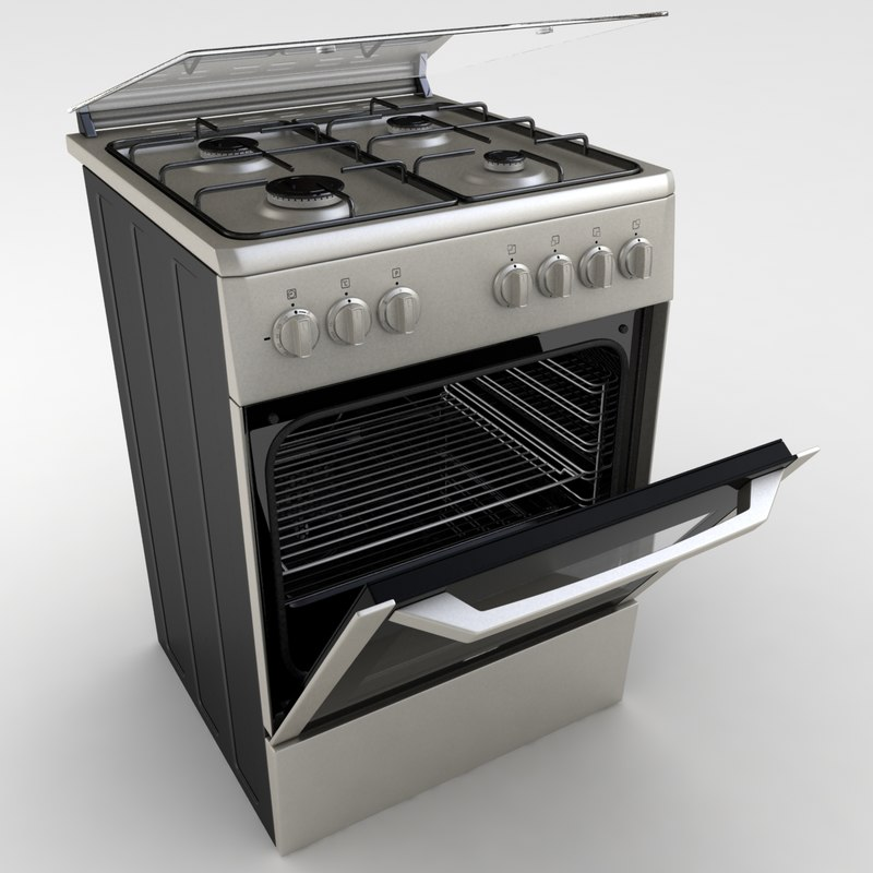 3d realistic beko oven model