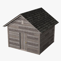 shed old 3d obj