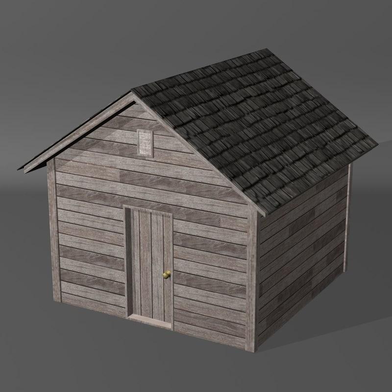 shed old 3d obj