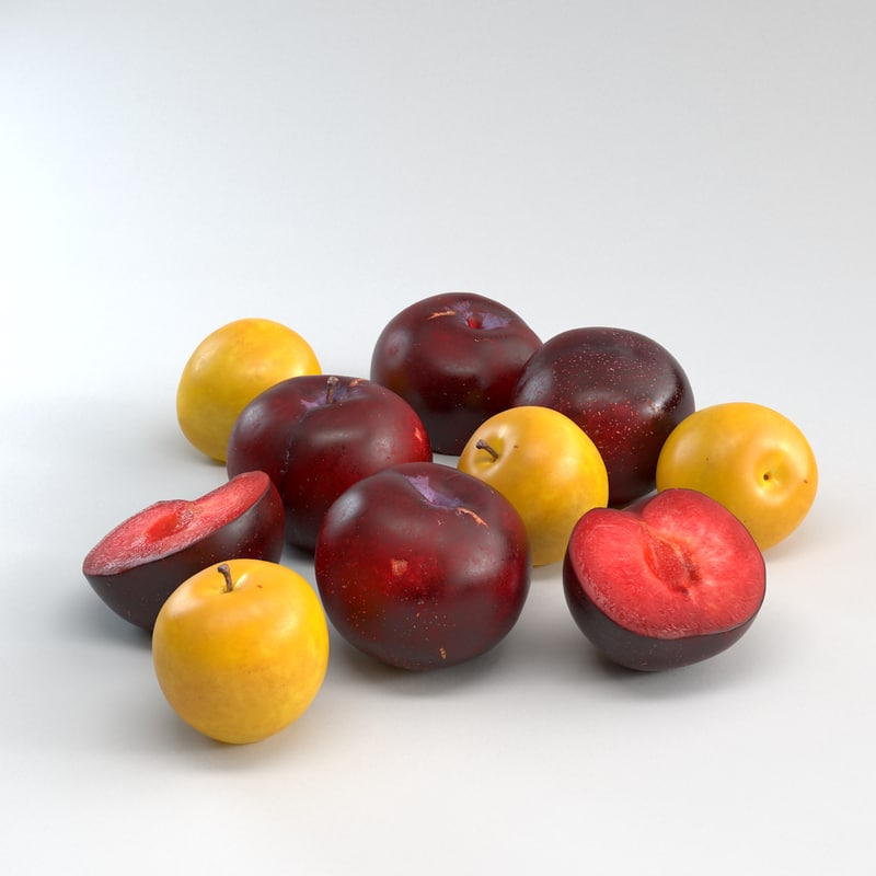 3ds max red plums