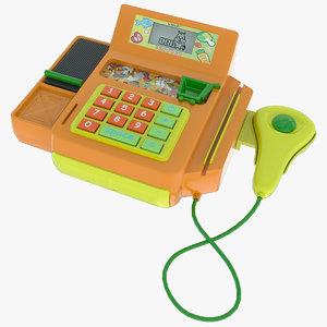 3d toy cash register model