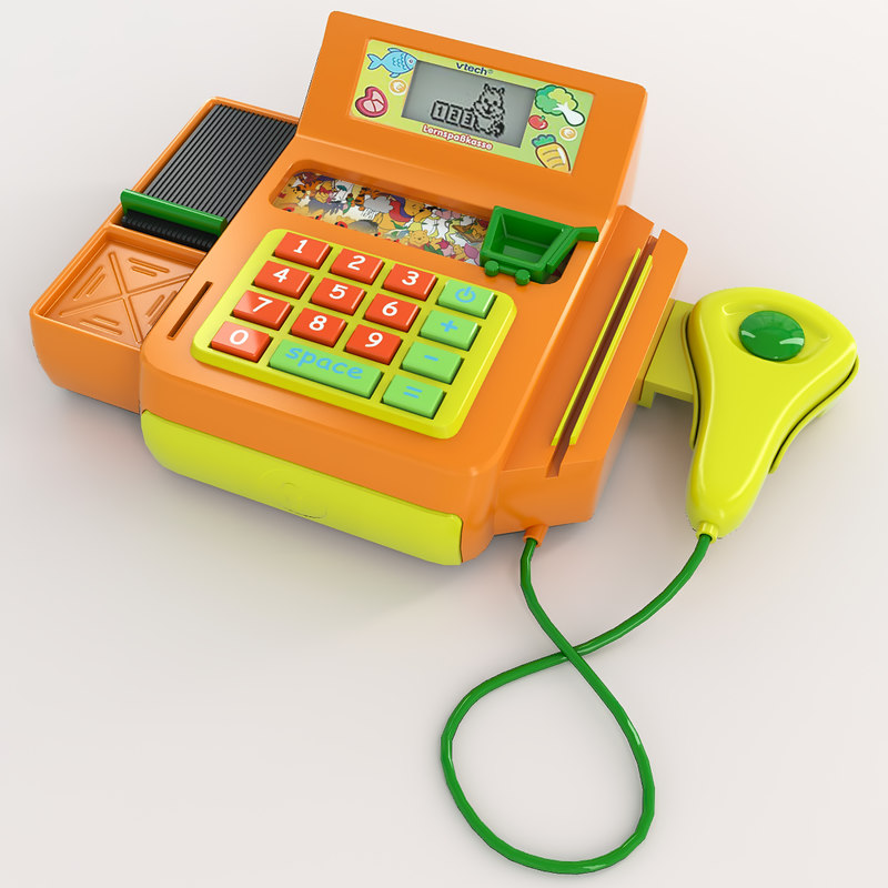 3d toy cash register model