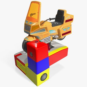 kids coin operated motorcycle 3d model