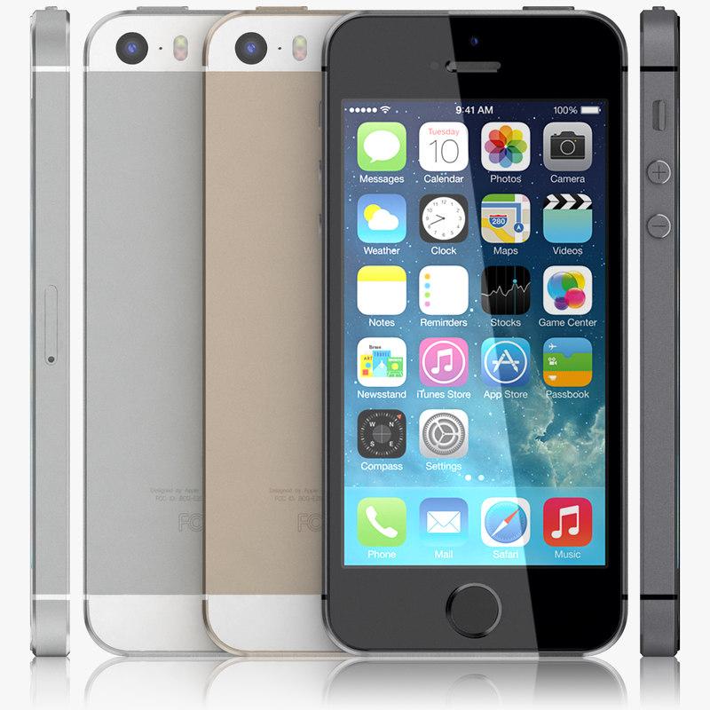 3d apple iphone 5s