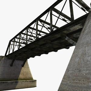 3d bridge steelbridge concrete