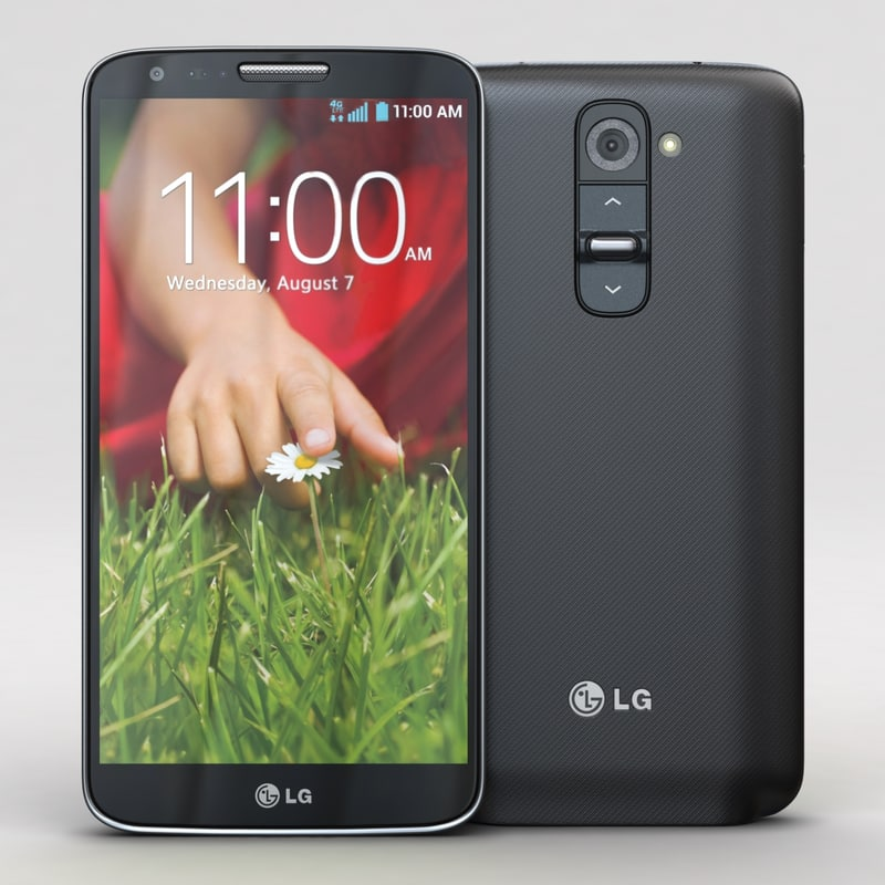lg g2 black cellphone 3d 3ds