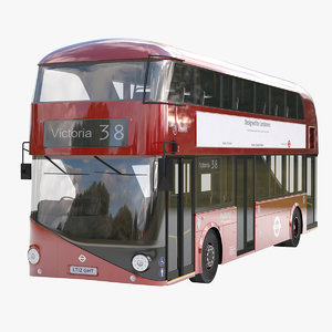 3d new bus london model