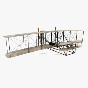 wright flyer 1903 brothers 3d model