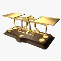 antique postage scales 3d model