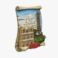 paris magnet souvenir 3d model