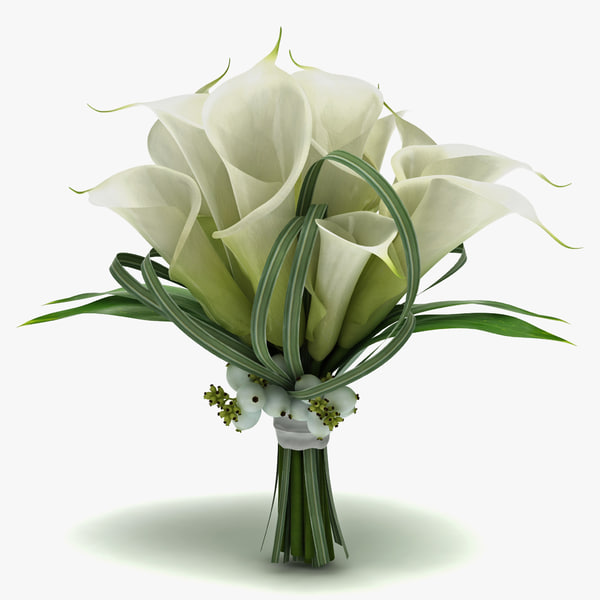 flower bouquet 3d max