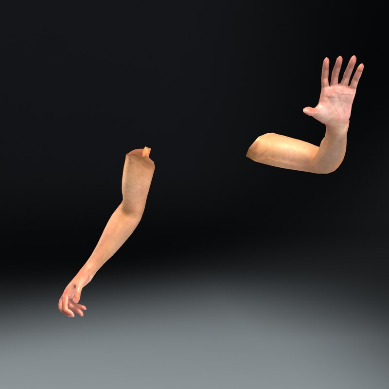 rigged person arms games 3d model