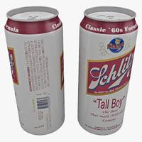 3dsmax beer schlitz tall boy