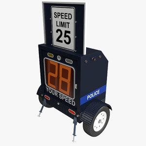3d model roadside radar 2