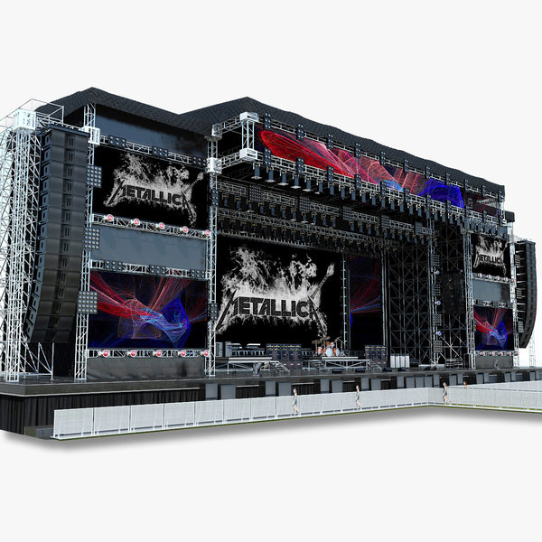 3d model mega live stage set