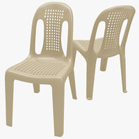 monobloc chair 4 3d max
