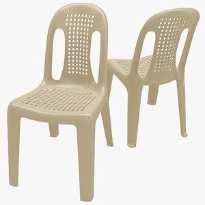 monobloc chair 4 3d max