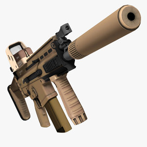 3d assault rifle fn scar-h model