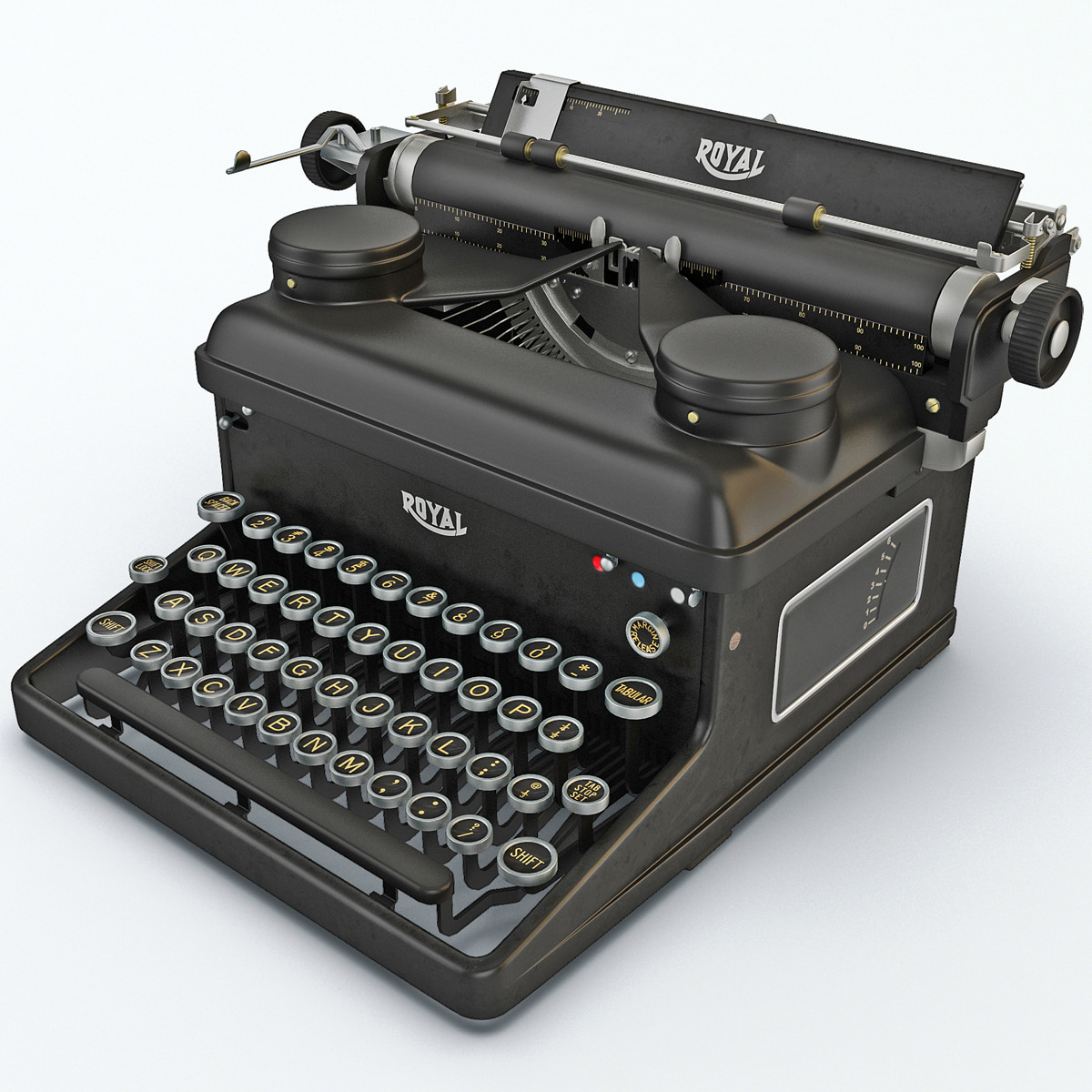 3d model typewriter royal