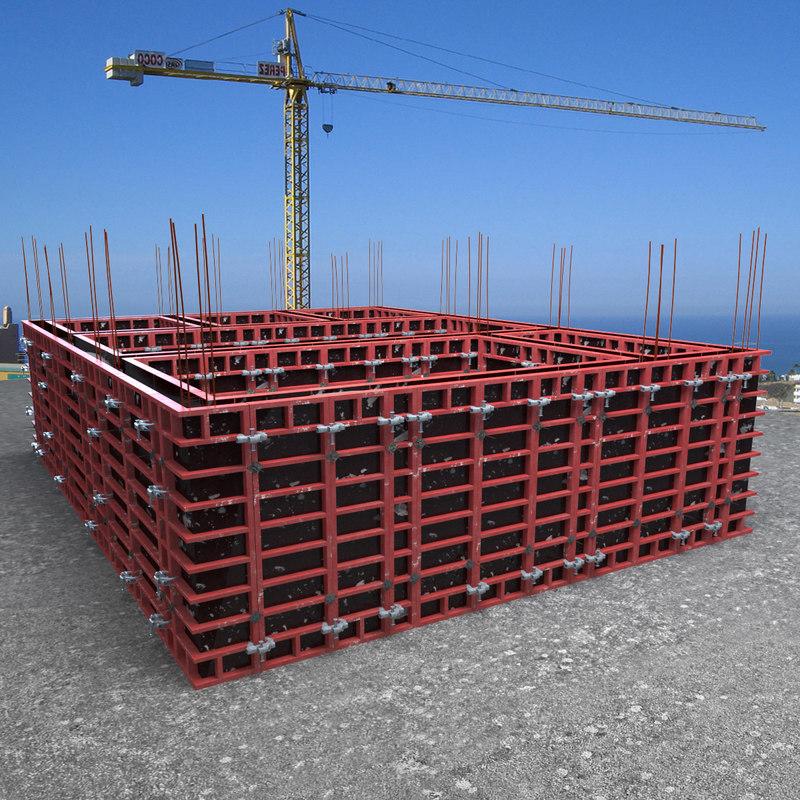 wall framework panels 3d model