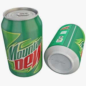 mountain dew 3d model