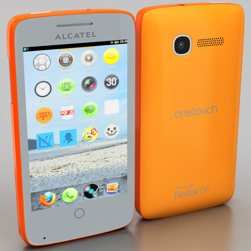 alcatel touch orange 3d model