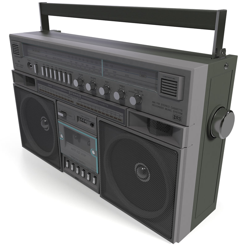 3d model of boombox player