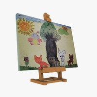 3d model small easel