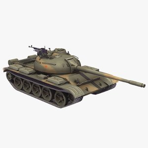 3d type59 battle tank chinese model