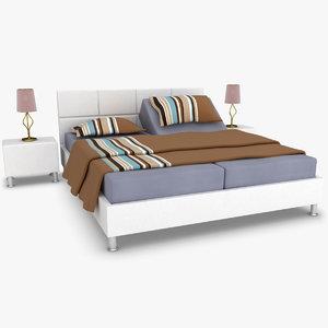3d karina adjustable bed white model