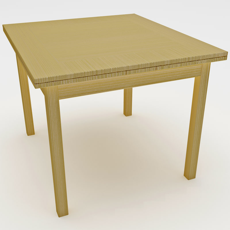 3d carolina cottage refectory table model