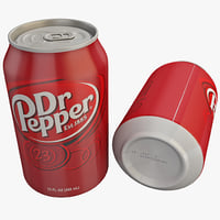3ds max dr pepper soda