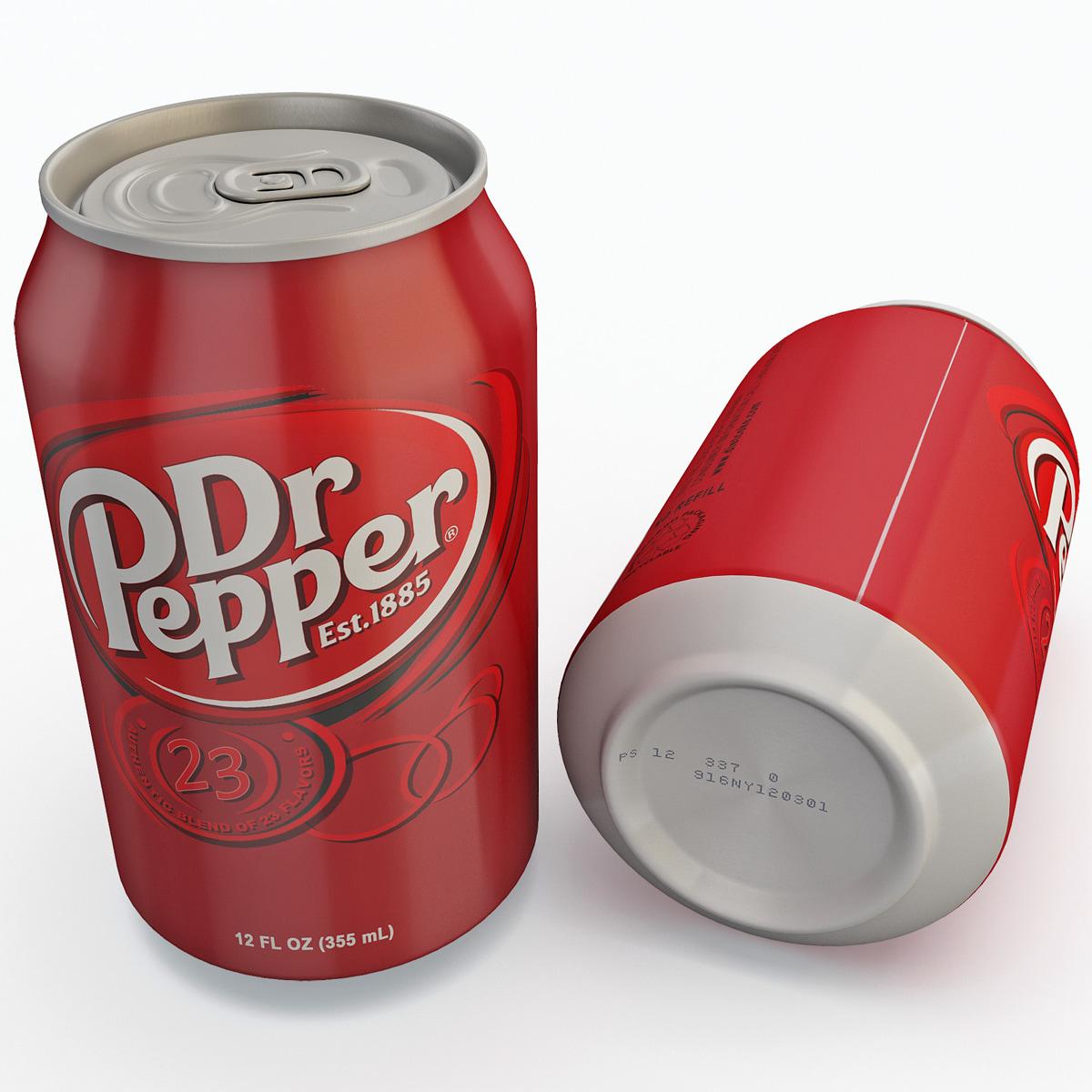 3ds max dr pepper soda