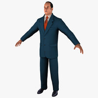 businessman 3 business 3d model