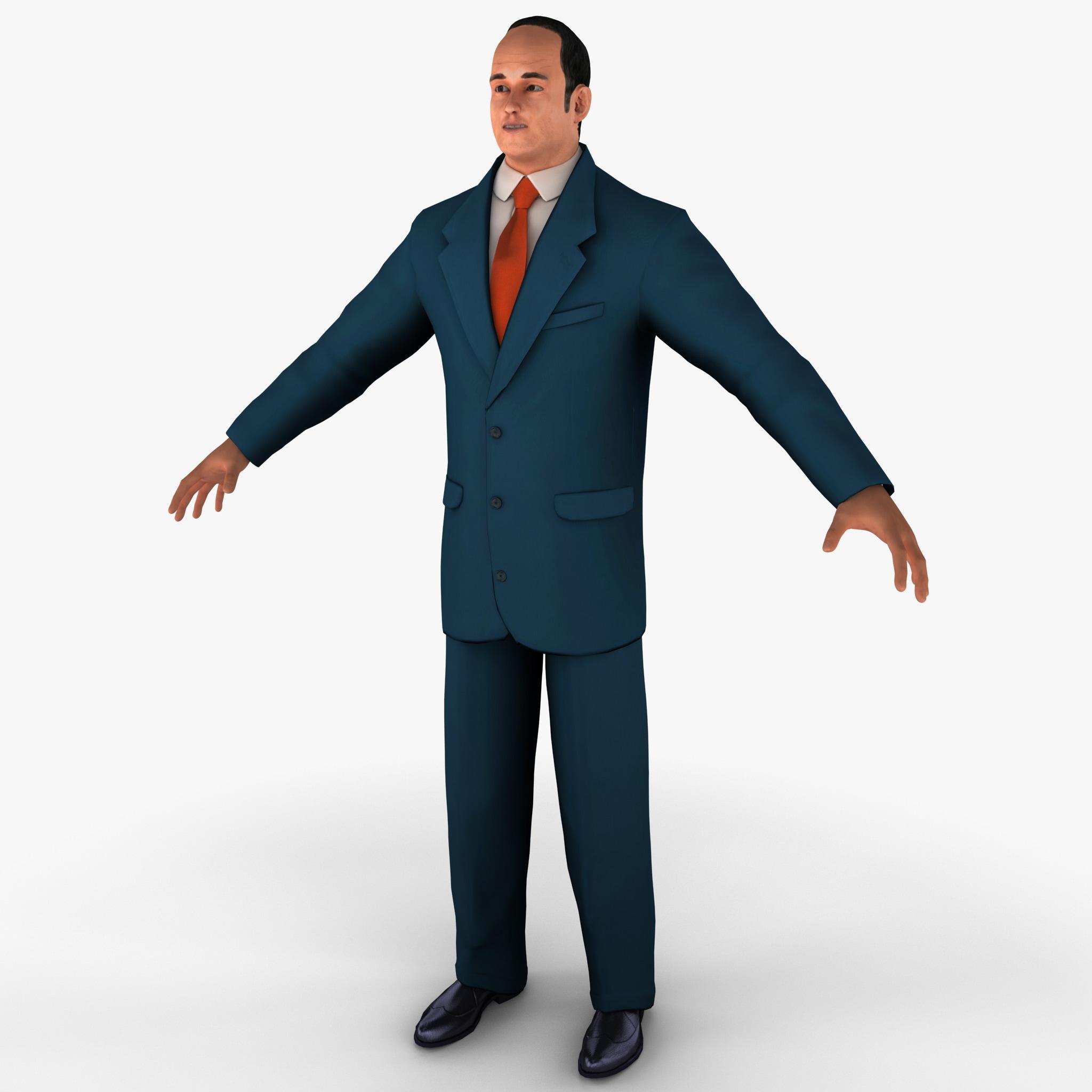 businessman 3 business 3d model