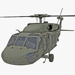 3ds max eh-60 black hawk rigged