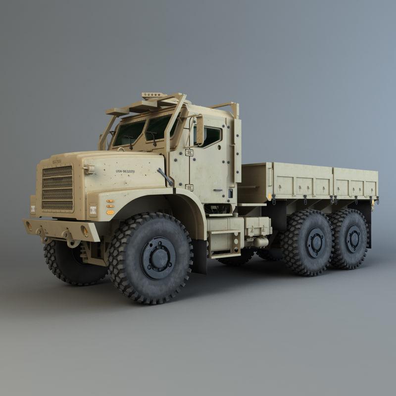 3d oshkosh mtvr amk23 model