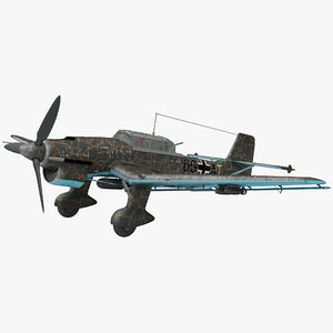 german wwii dive bomber 3d model
