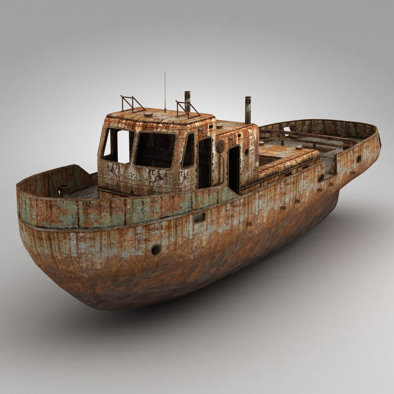 3d model rusty boat