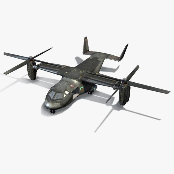 max low- sci-fi aircraft