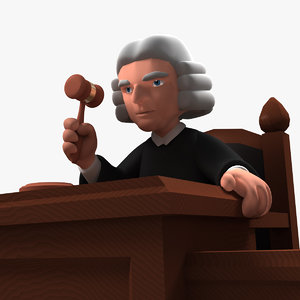 cartoon judge 3d model