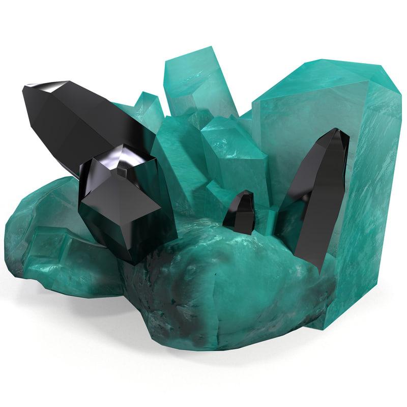 3d model amazonite stone