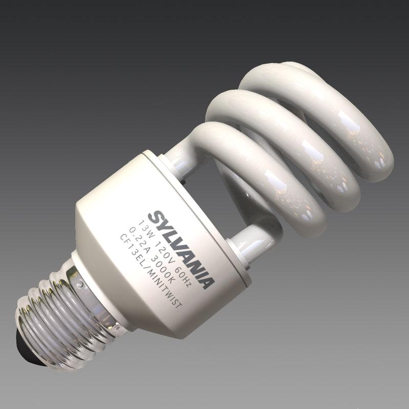 compact fluorescent bulb lighting 3d fbx
