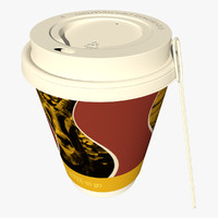 3d paper coffee cup