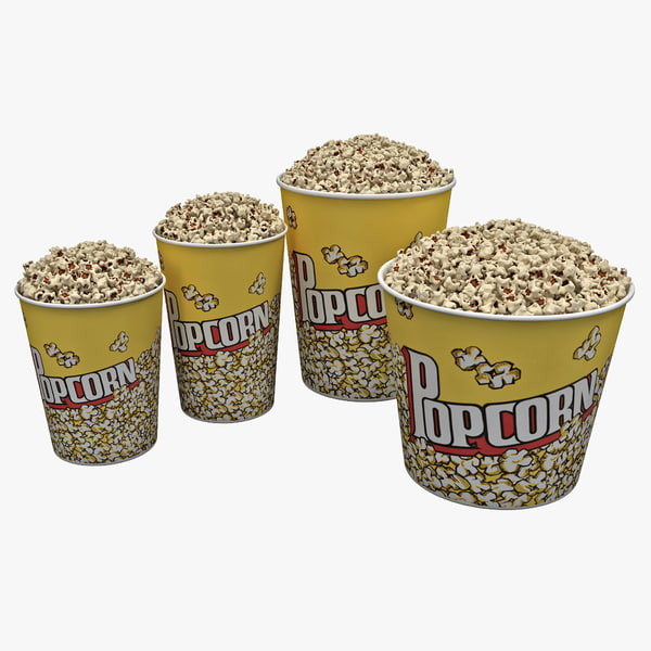 3ds popcorn bowls set